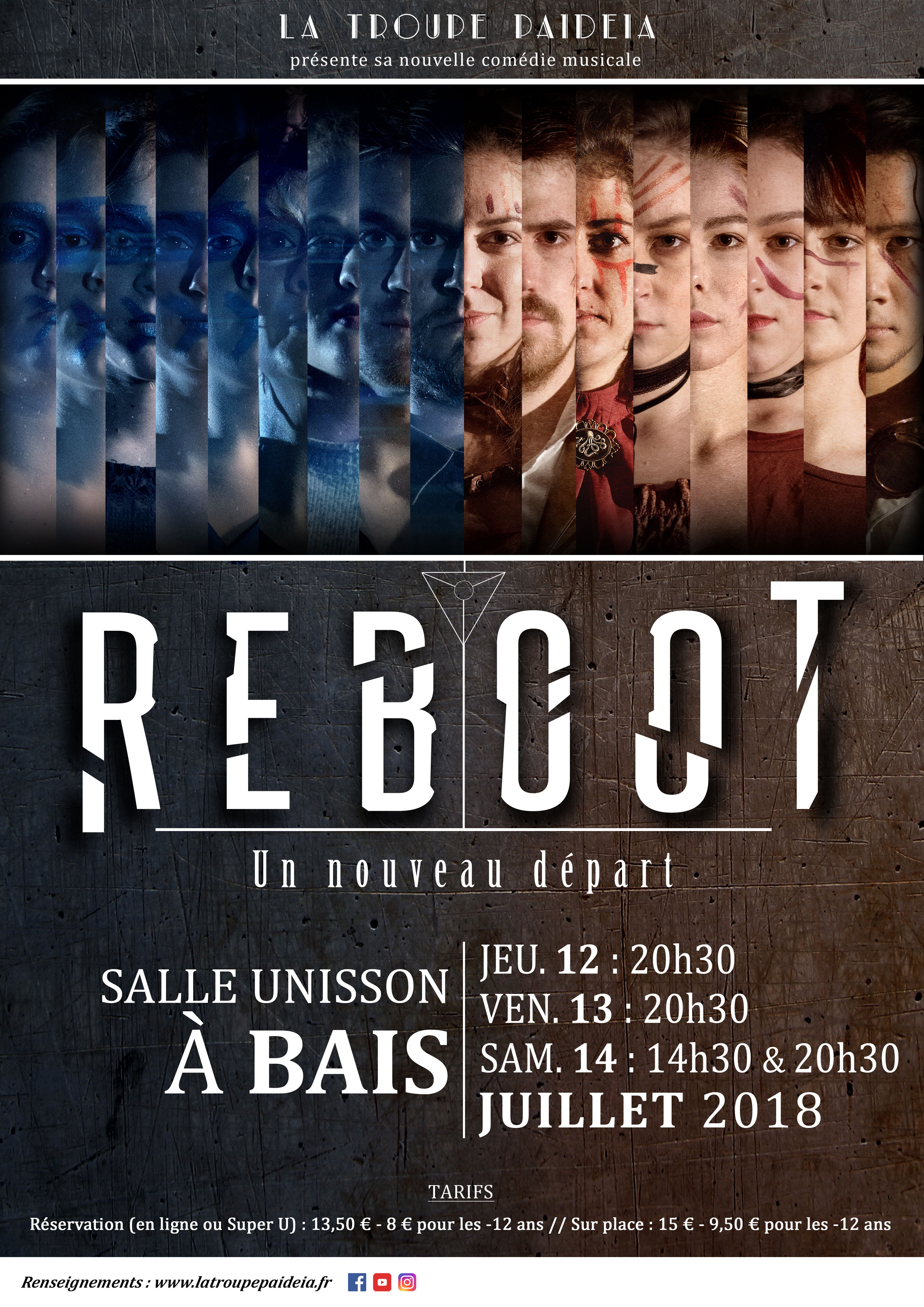 Reboot, affiche comédie musicale rennes